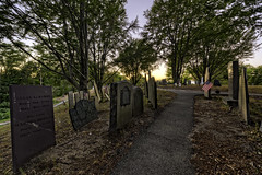 For the Living, Not the Dead (Frank C. Grace (Trig Photography)) Tags: plymouth massachusetts unitedstates us burialhill cemetery graves markersgrave stones sunset legendtripping haunted paranormal historic history