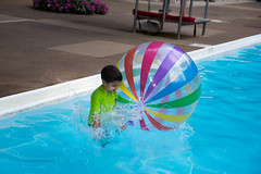 Jumping in with the ball (stynxno) Tags: haworth haworthswimclub newjersey oliver