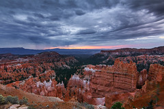 Inclimate In Bryce Canyon (Eric Gail: AdventuresInFineArtPhotography) Tags: ericgail 21studios canon canon6d 6d explore interesting interestingness photoshop lightroom nik software landscape nature infocus adjust california photo photographer ca cs6 picture brycecanyon utah hoodoos sunset stormy
