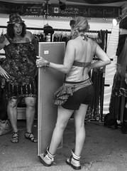 D7K_4543_epgs (Eric.Parker) Tags: pride parade toronto tattoo gender sexualorientation piercing bra brassiere tshirt tanktop belly crossdress transgender gay homosexual dyke lesbian breast costume bikini queer lgbt topless naked nude publicnudity exhibitionism 2016 motorcycle dykesonbikes dykemarch bicycle bike pierced tattooed bw