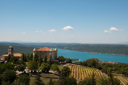 Chateau overlooking Lake of Sainte-Croix