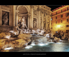 The Trevi Fountain, Rome, Italy :: HDR (:: Artie | Photography ::) Tags: italy rome fountain architecture photoshop canon roman engineering wideangle medieval structure trevi trevifountain baroque ef 1740mm f4 hdr fontanaditrevi artie pannini 1762 cs3 3xp photomatix tonemapping tonemap 5dmarkii 5dm2