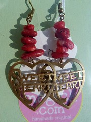 Sweetheart Earrings (Charismagick77) Tags: red love hearts jewellery earrings redcoral