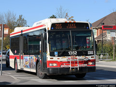 Toronto Transit Commission #1352 (vb5215's Transportation Gallery) Tags: toronto ttc transit orion ng commission vii 2007 hev