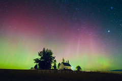 Northern Lights Over Freeze Church 2 (Ryan McGinty) Tags: usa landscape nightsky northernlights potlatch palouse latahcounty ryanmcginty freezechurch