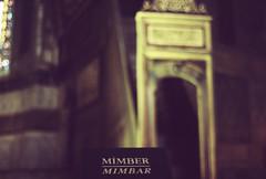 hagia sophia (julia_lu) Tags: film 35mm turkey lomo bokeh muslim islam religion istanbul mosque hagiasophia apse nikonfg mimbar julialu