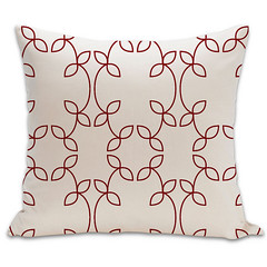 Vine Organic Pillow in Cayenne and Natural 18x18 (PURE Inspired Design) Tags: customfurniture organicfabric ecofriendlyfurniture woolrugs