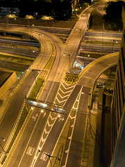 Freeway Panorama (Curtis Gregory Perry) Tags: road street plaza light usa night photography noche photo dc washington nikon highway ramp long exposure unitedstates nacht united maine nat noite northamerica interstate states avenue nuit lenfant notte nos natt malam noc 395 ntt   nag gece noapte  d300   no m   nakts  oche   gauean