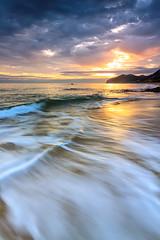 Trengandin Sunrise (saki_axat) Tags: seascape beach nature marina sunrise shoreline playa amanecer coastal noja trengandin canonikos