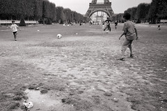 4 (Alex A Jones) Tags: city travel people urban blackandwhite paris france film 35mm kodak eiffeltower streetphotography gr1s ilford ricoh