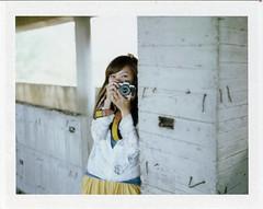 . (Da✞a) Tags: portrait color film girl polaroid taiwan cc instant even taichung fujifilmfp100csilk konicainstantpress