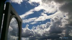 Desde mi Ventana - From my Window (Alberto Jiménez Rey) Tags: wood blue sky white blanco window glass azul clouds ventana photography madera time cloudy explorer alberto cielo manuel nubes rey nublado vistas cristal tiempo jimenez albjr albjr7