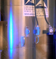 Cryo blue (Arenamontanus) Tags: phoenix metal storage cylinder dewar alcor cryonics