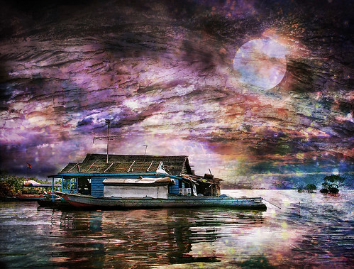 Houseboat in Cambodia