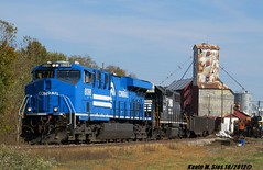 NS #8098 & 5347 in Donnellson, IL (CQDX018) Tags: heritage weather brooklyn train photography illinois october mine mt power nathan ns mark district norfolk tracks brandon olive horns railway plate sunny trains run line il deer southern madison second etc nickel erie panama horn coal scheme hillsboro section horsehead staunton 1022 litchfield conrail sorento 1014 fanning mows gp382 railfanning mautner 1068 warnick railfans 5347 8098 sd70ace donnellson es44ac 70e k5hll k5lla cqdx018 q0e