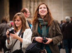 Tourists near Notre Dame, Paris, France (bohumil.klein) Tags: paris france europa tourist notredame notre dame francie 2011 pa