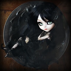 Kyknos (Konato) Tags: black green dark eyes wig pullip custo helter skelter dashka ririko konato