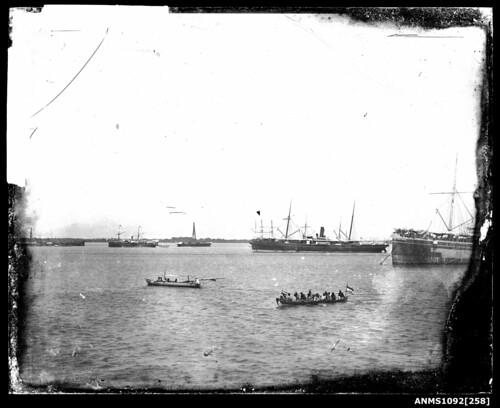 Rowboats and vessels, Sydney Harbour