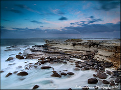 Potter Point Cliffs (AnthonyGinmanPhotography) Tags: longexposure cliff flow kurnell botanybaynationalpark potterpoint