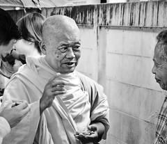 Wisdom (Richard Wintle) Tags: street blackandwhite bw photoshop thailand bangkok buddhist monk wise wisdom budda diffuseglow hss cmwdblackandwhite totallythailand sliderssunday
