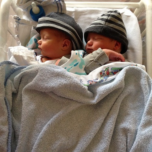 So proud of our two boys, born on October 16th, Thijs and Pim. ❤ @harmaaah