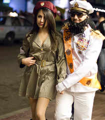 The Dictator with his prize (San Diego Shooter) Tags: portrait halloween sandiego streetphotography halloweencostumes downtownsandiego costumeideas sexyhalloween sexyhalloweencostumes sandiegostreetphotography sandiegohalloween halloween2012 sandiegohalloween2012 2012halloweencostumes