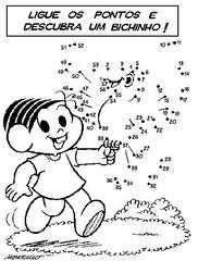 Ligue os Pontos com a Mônica: Turma da Mônica. (Atividades Educação Infantil) Tags: passatempos turmadamônica ligueospontosdesenhos
