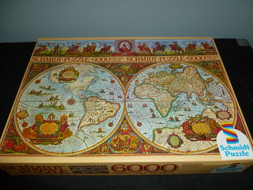 6000 piece puzzle historic world map by schmidt west germany a 6000 piece puzzle historic world map by schmidt west germany gumiabroncs Choice Image