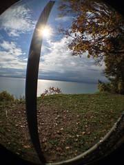 Lake Ontario from Scarborough Bluffs/Rosetta McClain Gardens (shireye) Tags: fisheye lakeontario scarboroughbluffs rosettamcclaingardens olloclip