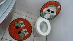 Jogo de banheiro de natal (Monne Arts) Tags: natal de noel kit jogo banheiro lavabo papai oferta tecido