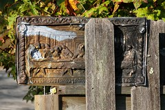 Happy Fence Friday (With Rusty Last Supper) (AndyM.) Tags: wood old metal canon fence rust decay rusty lastsupper hff 60d 55250mm fencefriday