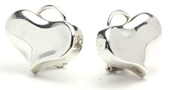 1038. Pair of Sterling Silver Earclips, Angela Cummings