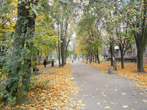 Sidewalk in Mariupol