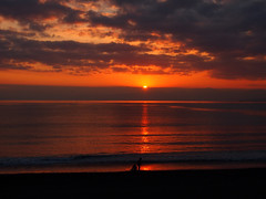 Sunset Shonan beach.