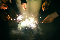 (tyreke.white) Tags: new white black yellow canon circle hands mark smoke united 85mm sparklers ii 5d years 18