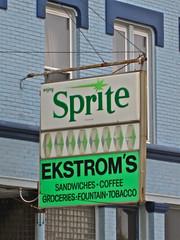 Ekstrom's, Rockford, IL (Robby Virus) Tags: fountain coffee sign store illinois sprite enjoy sandwiches tobacco convenience rockford grocries ekstroms