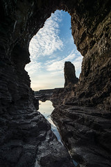 """Inside the Arch at Lizard Point below Souter Lighthouse, Whitburn<br /><span style=""""font-size:0.8em;"""">This image is part of a photoshoot that is discussed in Ian Purves blog -  <a href=""""http://purves.net/?p=923"""" rel=""""nofollow"""">purves.net/?p=923</a><br />Title: Rock Arch at Lizard Point in Whitburn<br />Location: Whitburn, South Shields, Tyne and Wear, UK</span> • <a style=""""font-size:0.8em;"""" href=""""https://www.flickr.com/photos/21540187@N07/8377052874/"""" target=""""_blank"""">View on Flickr</a>"""