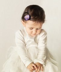 fiary tale *Explored* (Simona Ray) Tags: portrait baby white girl face hands child dress