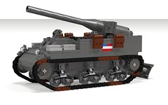 POV_M12 GMC (Florida Shoooter) Tags: usa lego ww2 artillery spg povray ldd 155mm