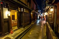 Ponto-Cho at Night  (olvwu | ) Tags: street longexposure light japan night japanese restaurant alley kyoto     pontocho  traditionalarchitecture hanamachi kyotocity jungpangwu oliverwu oliverjpwu kyotoprefecture pontoch olvwu   jungpang hanamachidistrict