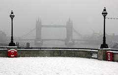 Snow in London: Tower Bridge (StanfordsTravel) Tags: uk winter snow london ice thames towerbridge river riverside freeze blizzard londonist