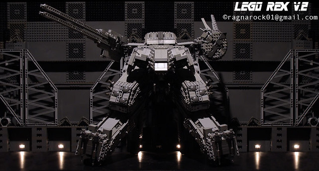LEGO 神人玩家再現超巨大可動式「METAL GEAR REX」