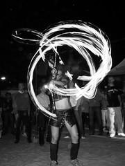 Fire Poi Dancer at Space Beach, Berlin (grobs gfx) Tags: party dj clubbing techno clubculture