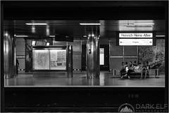 underground (Darkelf Photography) Tags: city people urban blackandwhite bw monochrome station train canon germany underground photography mono europe transport ubahn dusseldorf maciek 2012 darkelf 24105mm 5dii gornisiewicz