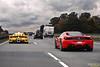 Traffic (Keno Zache) Tags: red yellow highway italia traffic competition autobahn ferrari racing german enzo speeding edo combo keno zxx 458 fxx zache
