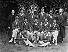 Bishop Foy School, Waterford, cricket group : commissioned by Rev. Mr. Seymore (National Library of Ireland on The Commons) Tags: ahpoole arthurhenripoole poolecollection glassnegative nationallibraryofireland cricketxi waterford bishopfoy cricket school grantstownhouse