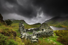 """ DRAMATIC & DERELICT "" (Wiffsmiff23) Tags: snowdonia northwales dramatic drama epic abandoned decay house lake mountain storm"