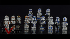 Tribute to the Clone Wars (AndrewVxtc) Tags: lego star wars clone trooper custom 212th 501st waxer boil commander cody captain rex kix jesse hardcase dogma tup fives umbara decals andrewvxtc