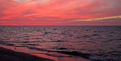 """Superior Pink:  After The Sun Sets"" (J Henry G) Tags: sunset pink grandmarais lakesuperior michigan johnhenrygremmer beach clouds pentax k1"