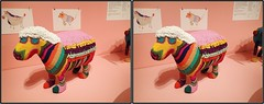 stuffed sculpture 2 (Robbie1) Tags: beads cooperhewitt crosseye newyorkcity sculpture stereo stuffed